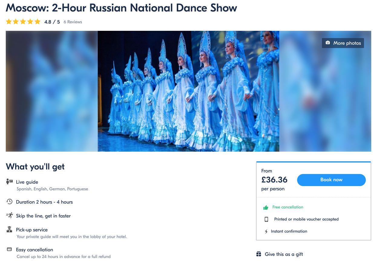 Maskvos 2 valandų rusų nacionalinė šokių šou Kostroma