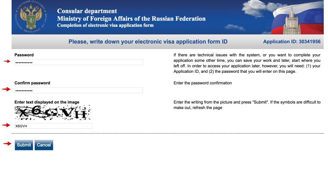 Užpildykite Rusijos vizos prašymo formą 2
